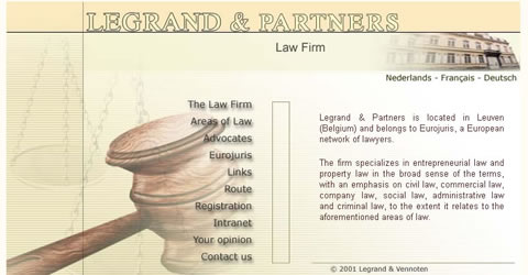 Legrand & Partners (Law firm - 2001 design)